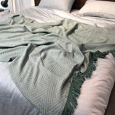 Manta de sofá de algodón de Verano, Manta, diseño geométrico ...