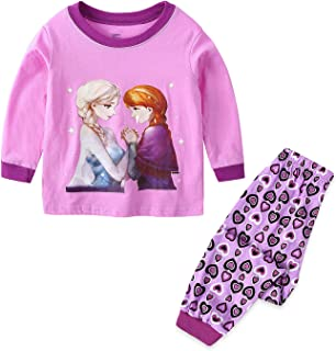 Girls Frozen Pants Pajamas Sets Cotton