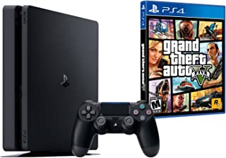 PS4 Slim 500Go Noir - Playstation 4 + GTA V Premium Edition