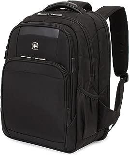 SWISSGEAR 6392 ScanSmart Large Padded Laptop TSA Friendly Backpack - Black on Black