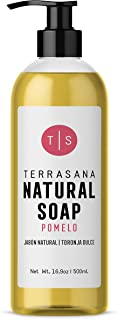 TERRASANA All Natural & Soothing Liquid Soap - Pure Castile Hand & Body Wash + Essential Oils for a Nice & Smooth After-feel | Vegan, Cruelty-FREE, Detergent-FREE, Perfume-FREE | Grapefruit 16.9fl.oz