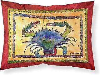 Caroline's Treasures 8056PILLOWCASE Crab Moisture Wicking Fabric Standard Pillowcase, Large, Multicolor