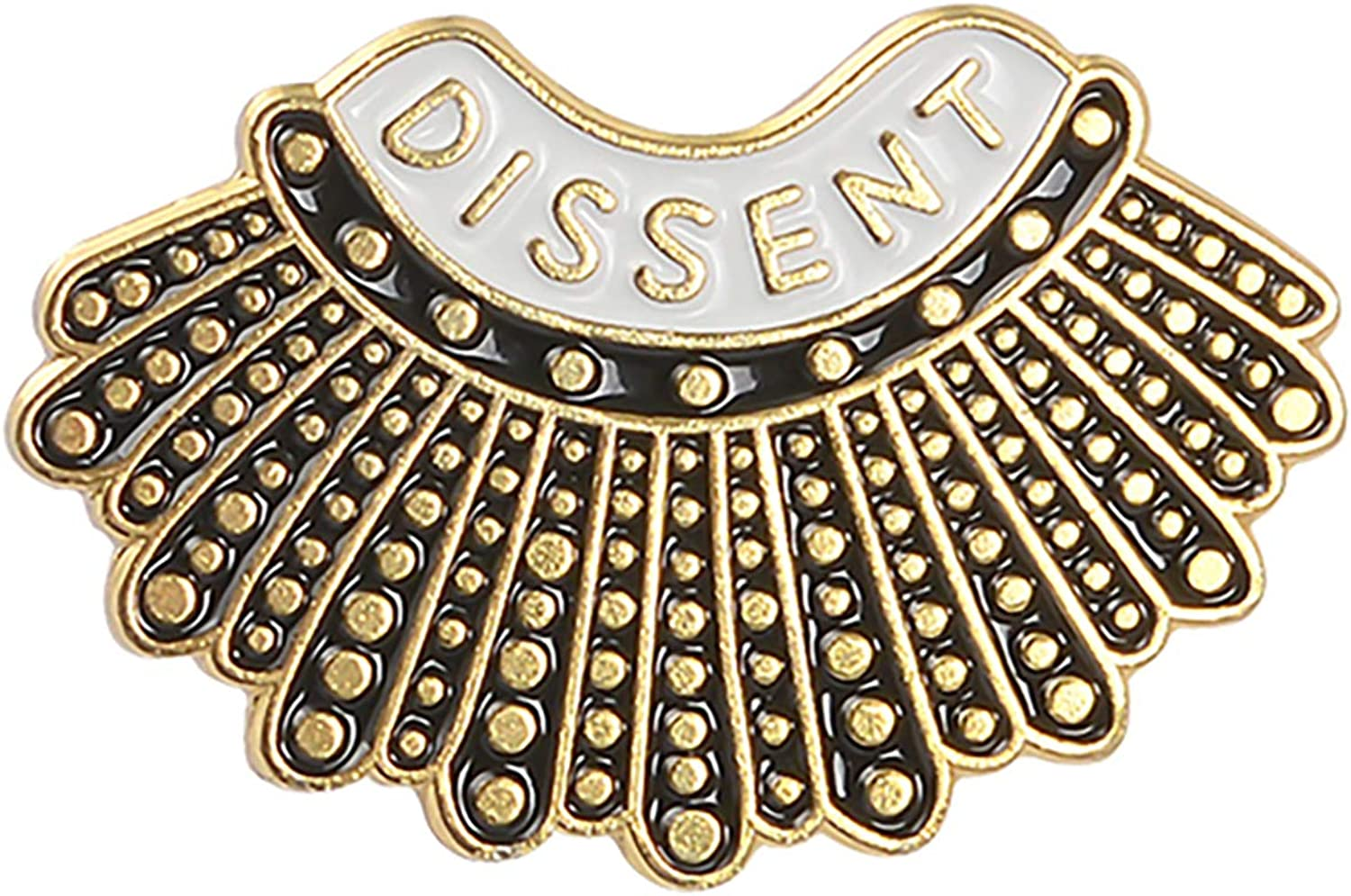 ROSTIVO Enamel Pins Dissent Pin Ruth Bader Ginsburg Feminist Pin RBG Dissent Collar Pin Female Justice Brooches