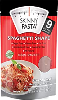 Skinny Pasta Konjac Spaghetti Shape Sugar Free Gluten Free Fat Free Cholesterol Free Contains Fiber All Natural 9.52 oz 1 pack