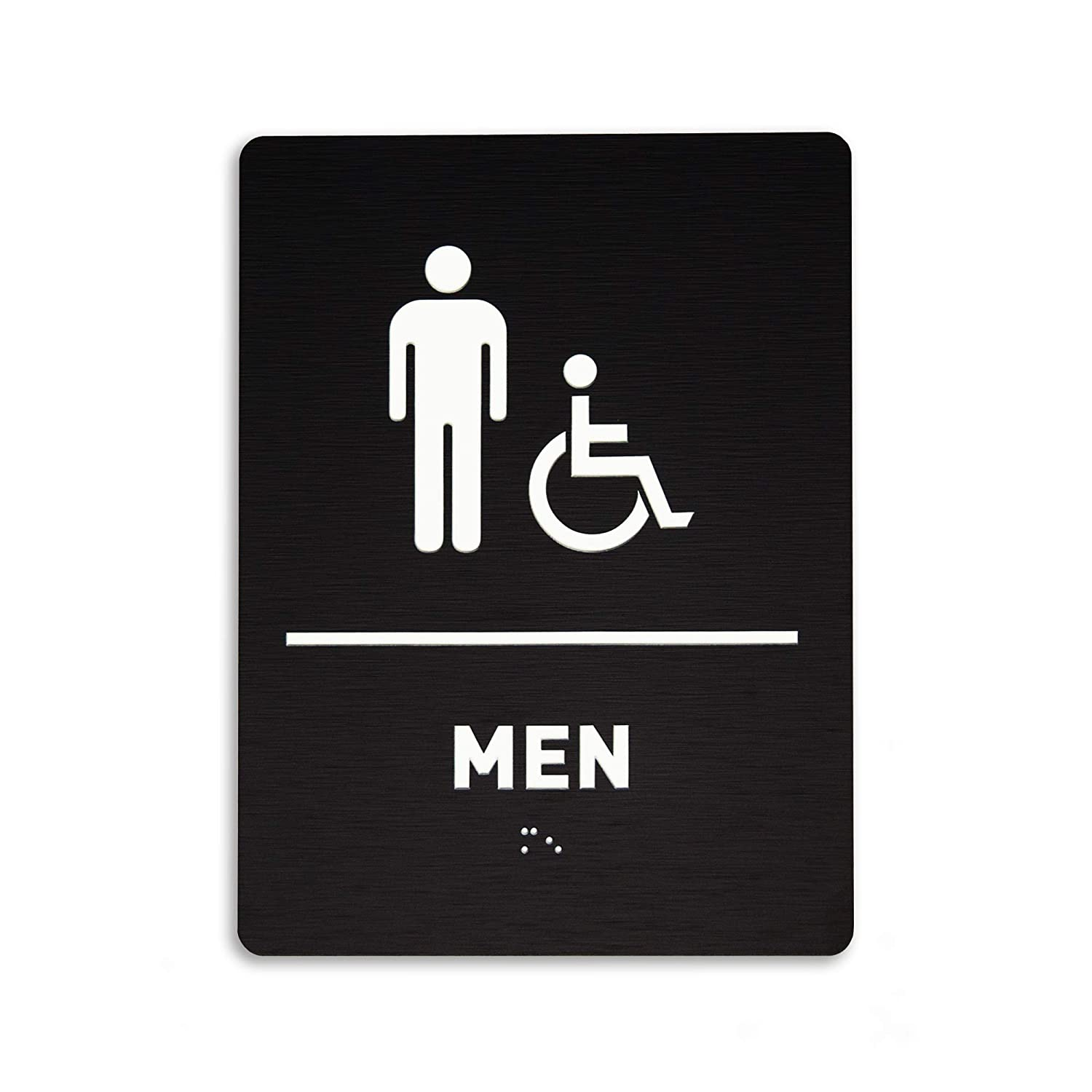 Men Restroom Identification Max 46% OFF Sign - Co Wheelchair Import ADA Accessible