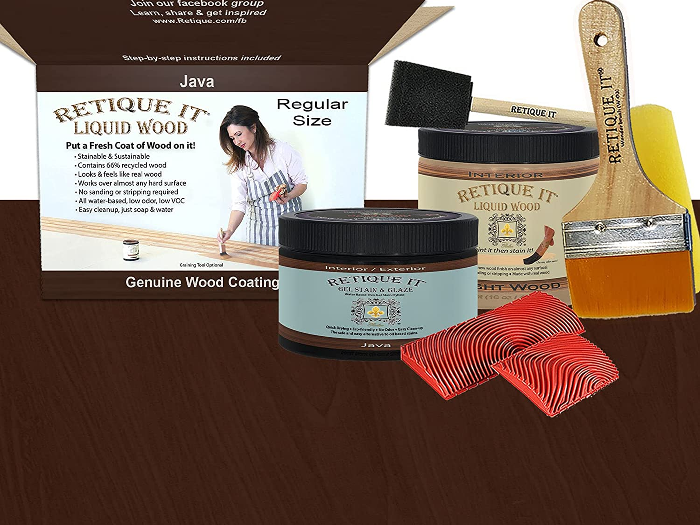 Retique It Graining Kit Gel Japan Maker New Stain with 1 year warranty 32 Quart Liquid oz Wood