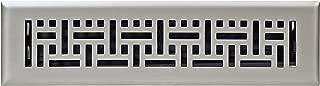Accord Ventilation AMFRSNB212 Wicker Design Floor Register, Satin Nickel, 2