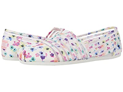BOBS from SKECHERS Bobs Plush Wild Lilly (White Multi) Women