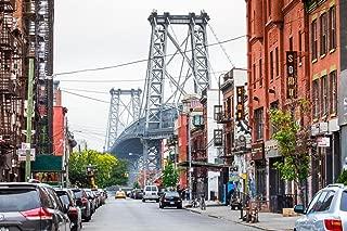 Street View Brooklyn NY and Williamsburg Bridge Photo Art Print Cool Huge Large Giant Poster Art 54x36