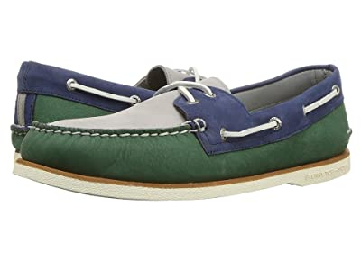 Sperry Gold Cup A/O Tri-Tone (Green/Navy) Men