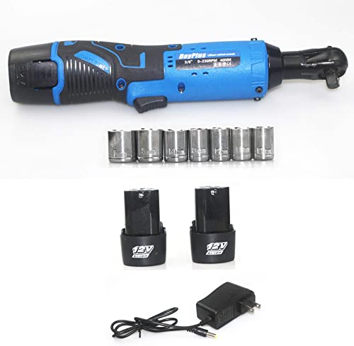 """wholesale 3/8"""" 12V Electric Cordless Ratchet Wrench Tool Set with online sale new arrival 2 Packs 1500mAH Battery 7Pcs Wrench Sockets and Fast Charger, LED Work Light 40Nm Large Torque 230RPM Lightweight Powerful Ratchet Wrench sale"""