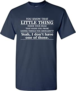 Little Thing Inside Your Head Funny Basic Cotton T-Shirt