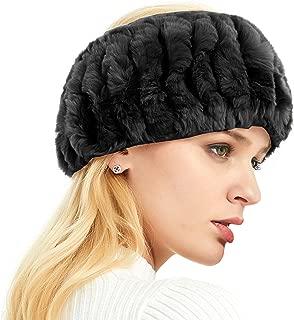 Real Rabbit Fur headband, Cold Weather Ear warmer Hat Ski hairband muff