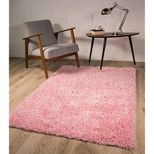The Rug House Thick Modern Small Medium Soft Anti Shed Luxury Vibrant Shaggy Rugs (Baby