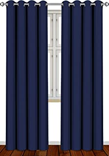 Best Utopia Bedding 2 Panels Grommet Blackout Curtains Thermal Insulated for Bedroom, W52 x L84 Inches, Navy Reviews