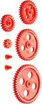 Ajax Scientific 7 Piece Plastic Gear and Bushing Set