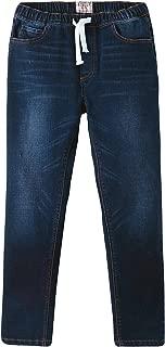 Boys Kids Elastic Waist Regular Fit Stretch Denim Jeans Blue LLB648