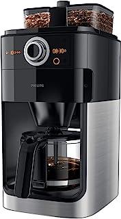 Philips Koffiezetapparaat Grind & Brew - Zet 12 koppen koffie - Geintgreerde koffiemolen - Dubbele bonenhouder - Timer - D...