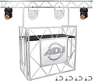 $859 » American DJ Pro Event Table II DJ Booth Facade+Truss+2 Moving Heads+2 Par Lights