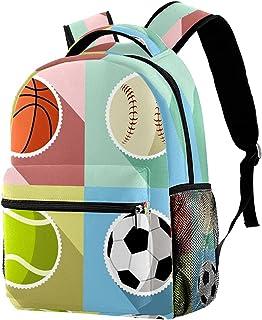 COOSUN Sport Ball Basketball Basketball Lightweight School Classic Backpack Travel Rucksack for Girls Women Kids Teens