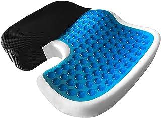 Car Gel Enhanced seat Cushion, Non-Slip Orthopedic Gel & Memory Foam Coccyx Cushion for Tailbone Pain, Office Chair Car se...