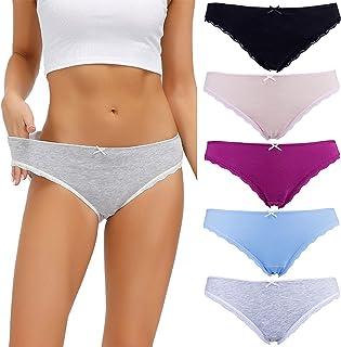 S-3XL القطن النساء ملابس داخلية مجموعة 5 قطع سراويل للنساء منتصف الارتفاع ألوان ثابتة ملابس داخلية مثيرة الإناث الملابس ال...