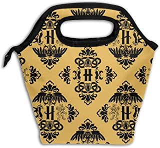 Magic Houses of Potter Reusable Insulated Lunch Bag Cooler Tote Box with Zipper Closure for Woman Man Work Pinic Or Travel