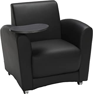 OFM Core Collection InterPlay Series Single Seat Chair with Tungsten Tablet, in Black (821-PU606-TNGST)