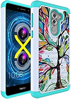 Honor 6X Case,Vfunn [Shock Absorption] Good Protection Rhinestone Hybrid Dual Protective Case Cover for Huawei Honor 6X (W...