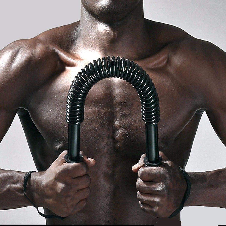 FidgetFidget Arm Chest Muscle Exercise Power Twister Bar HeavyDuty Spring Strength Training