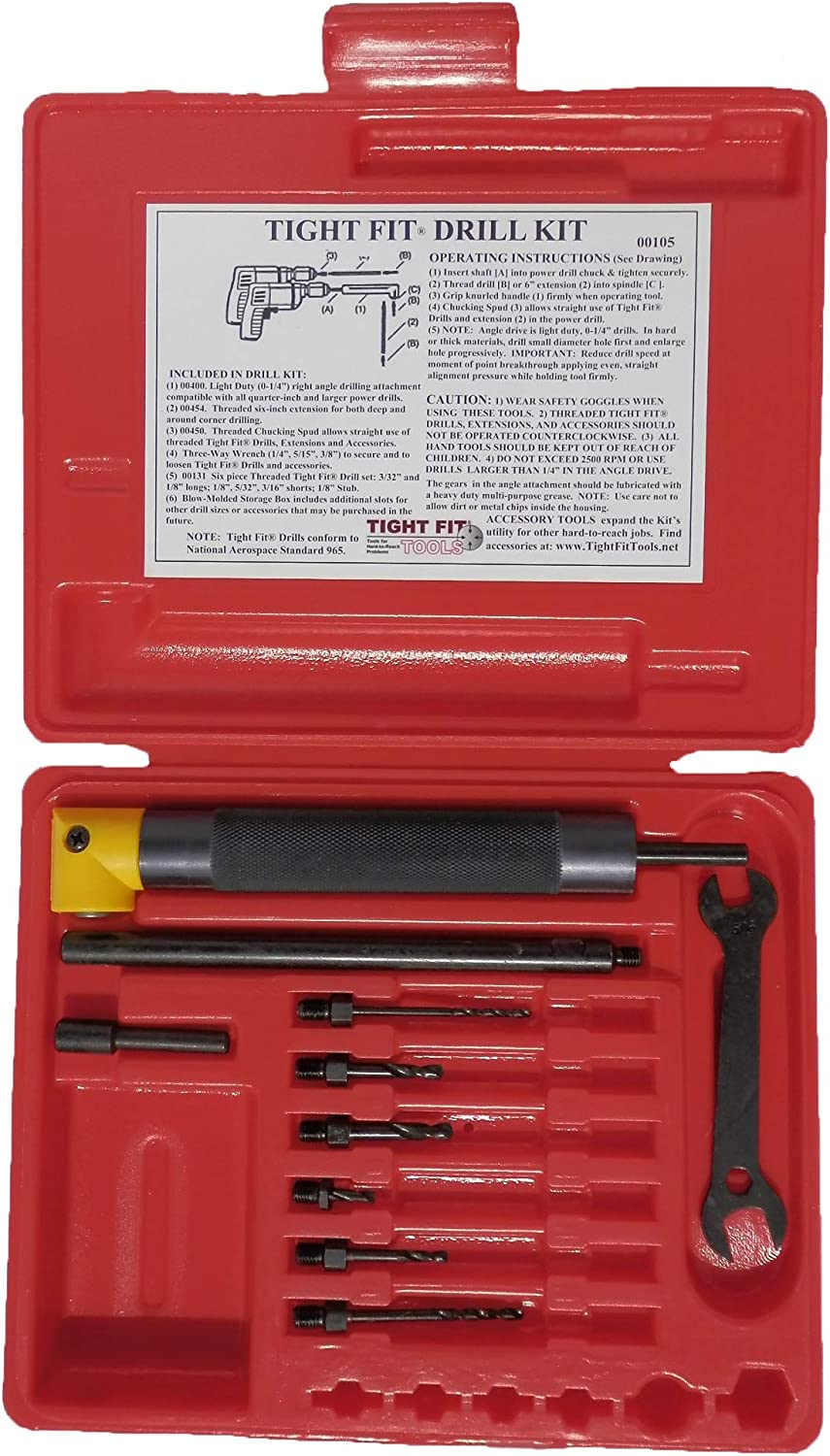 Tool Gift Finally resale start Right Angle Drill Tight Attachment Fit Virginia Beach Mall Kit A