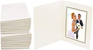 Golden State Art, Cardboard Photo Folder For a 4x6 Photo (Pack of 100) GS001-S Ivory Color