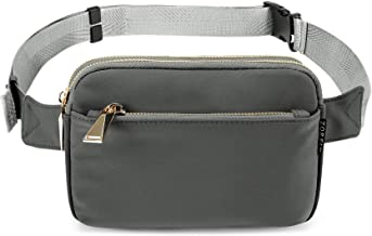 ZORFIN Fanny Pack for Women & Men Fashion Waterproof Waist bag Adjustable Belt Bag..