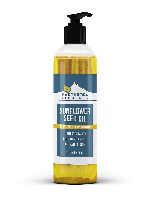 Sunflower Seed Oil (16 fl oz) Premium Grade  Purity, High in Vi