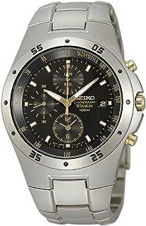 Mens Chronograph Titanium Analog Dress Quartz Watch (Imported) SND451P1
