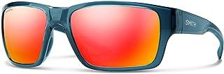 Smith Outback 201262OXYZ59X6 Mens Matte Blue Frame Red Mirror Lens Wrap Sunglasses