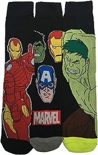 HDUK Mens Socks, 3 x pares de para hombre/niños Marvel Comics Character calcetines/UK 6 – 11 EUR 39 – 45 * * Fantástica Idea de regalo * *
