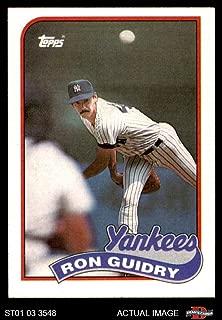 1989 Topps # 255 Ron Guidry New York Yankees (Baseball Card) Dean's Cards 5 - EX Yankees