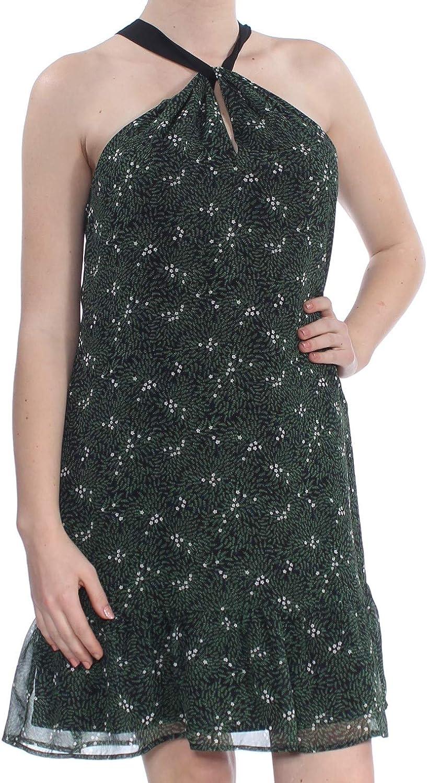 Maison Jules FlowerPrint Boho Halter Dress