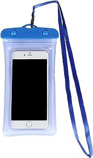 The earth crew 水に浮く 防水スマホケース 「 Float1 ブラック 」 お風呂 アウトドア スポーツ ビジネス 海 プール 雨 iPhone スマートフォン スマホカバー スマホ入れ (blue)