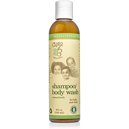 CARA B Naturally Baby Shampoo and Body Wash for Textured, Curly Hair - Eczema-Friendly Formula – No Parabens, Sulfates, Phthalates - 8 Ounces