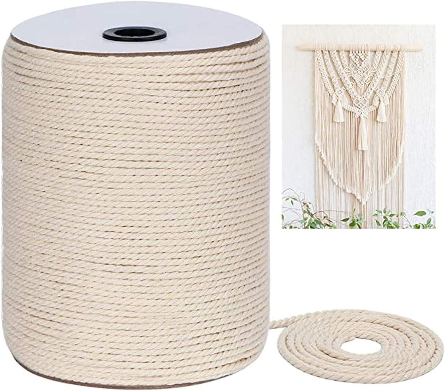 3mm x 300m Cotton Industry No. 1 Cord Macramé String Natural Rope Washington Mall Twine