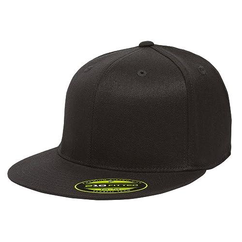 3a8603ffdcc2e Flexfit Premium 210 Fitted Flat Brim Baseball Hat
