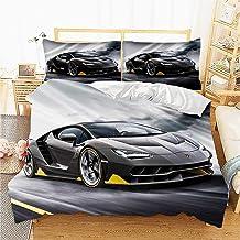 Parure de lit 3D avec Housse de Couette et taie d'oreiller Parure de lit avec Housse de Couette en -Lit Trois pièces-Énorm...