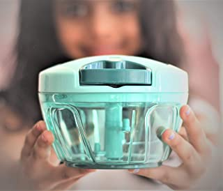Earthful | Easy Food Chopper | Super Simple Vegetable Cutter and Slicer | Manual Quick Pull Chopper | Hand Held Processor ...