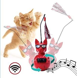 Penn Plax Dj Whiskerz Wireless Speaker Dancing Cat Toy with Catnip