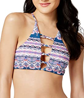 Raisins Womens Aloha Waters Halter Bikini Top,Navy,XL