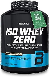 BioTechUSA Iso Whey Zero Premium Proteïnepoeder van Native Whey Isolaat verrijkt met L-glutamine en BCAA, palmolie- en asp...