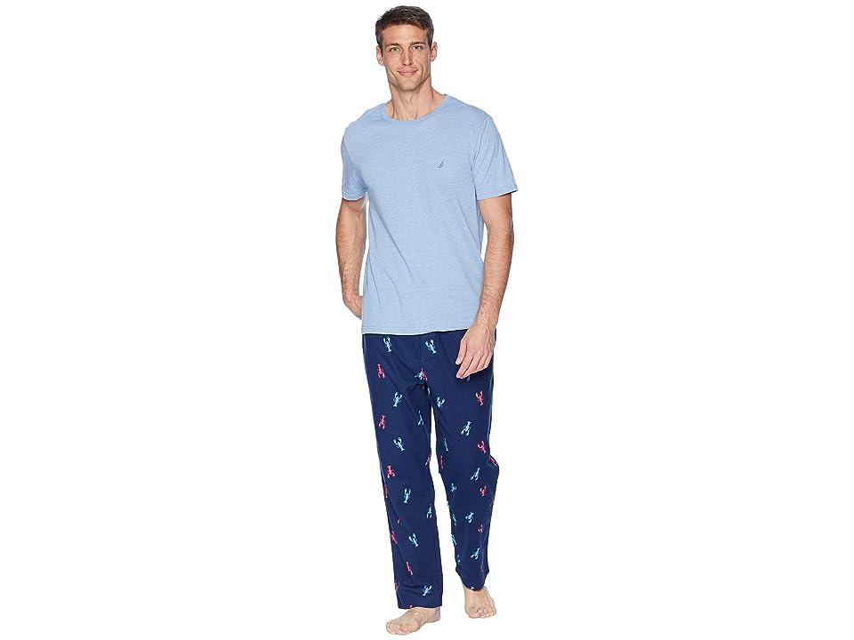 Nautica Woven PJ Set (Riviera Blue) Men