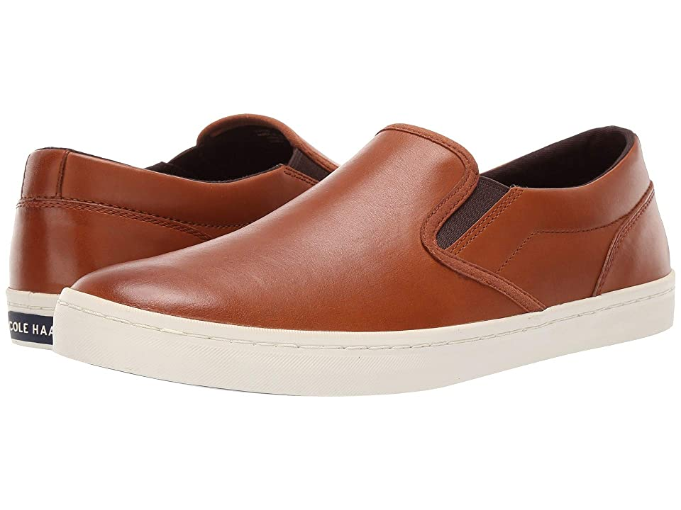Cole Haan Nantucket Deck Slip-On (British Tan Handstain) Men
